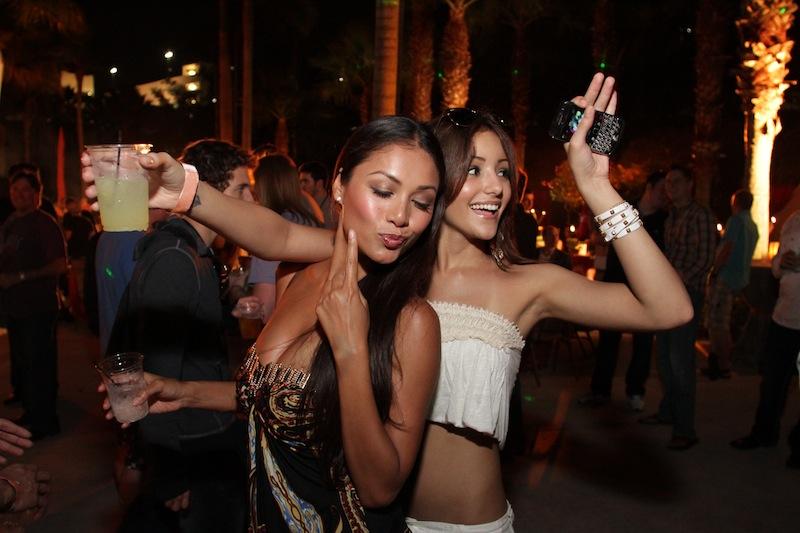 Black girls partying, nipples titties