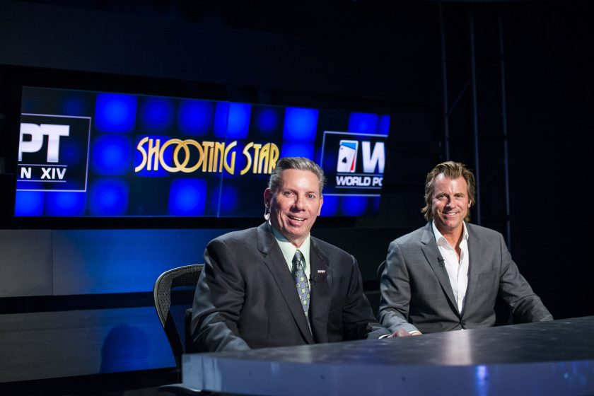 Mike Sexton and Vince Van Patten at WPT Bay 101 Shooting Star