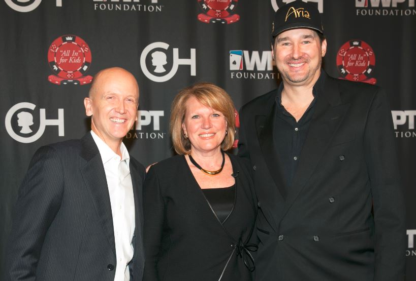 Steve Lipscomb, Madeline Bell, and Phil Hellmuth