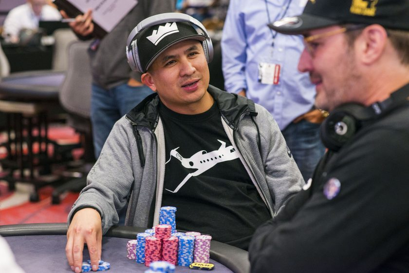JC Tran and Phil Hellmuth