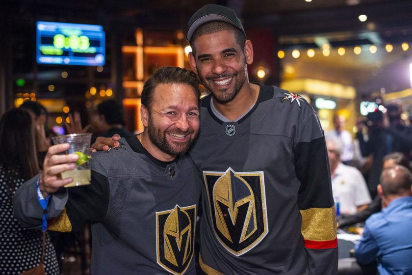 Daniel Negreanu and David Williams stopped by after the Vegas Golden Knights game