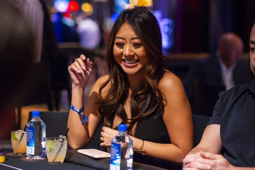Maria Ho enjoying the night