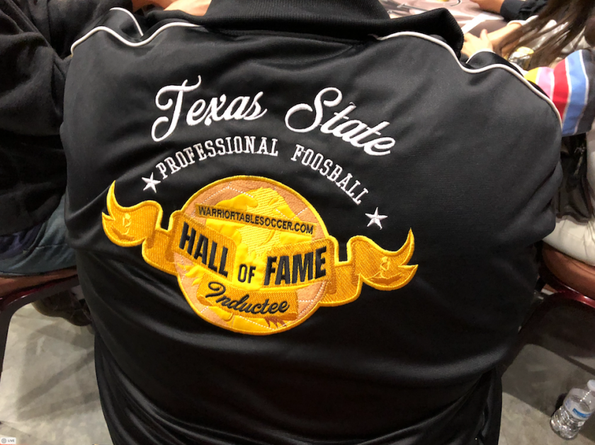 Gary Sixkiller's Texas State Professional Foosball Hall of Fame Jacket